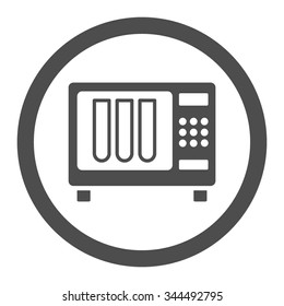 Sterilizer vector icon. Style is flat rounded symbol, gray color, rounded angles, white background.