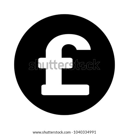 Sterling Pound Currency Sign Stock Vector Royalty Free 1040334991