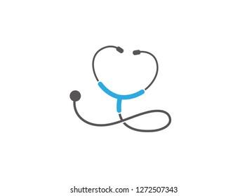 stethoscope Hear Beat Logo