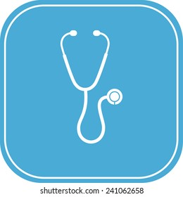 stethoscope icon. vector illustration