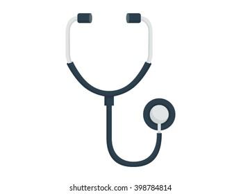 Stethoscope Illustration - Flat Icon