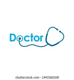 Stethoscope Logo, Doctor Logo, Medical Logo