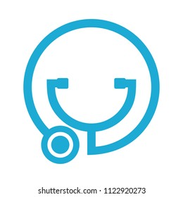 stethoscope logo. medical icon. health symbol. vector eps 08.