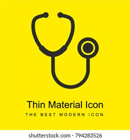 Stethoscope medical tool bright yellow material minimal icon or logo design
