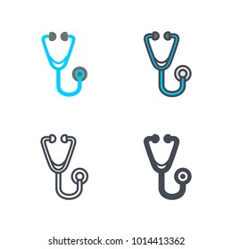 Stethoscope medicine vector icon