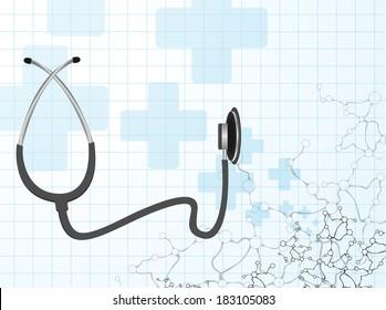 Stethoscope  molecule vector