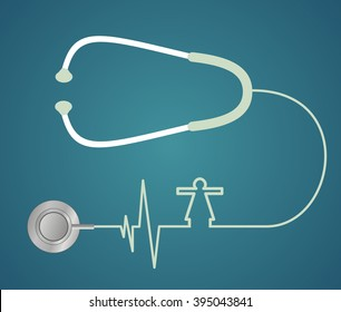 stethoscope in the shape of heart
