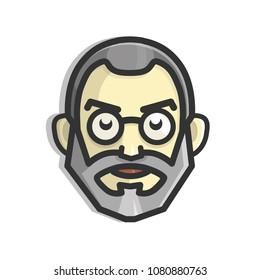Steve Jobs face icon
