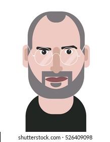 Steve Jobs geometric vector portrait