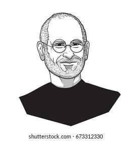 Steve Jobs Vector Illustration