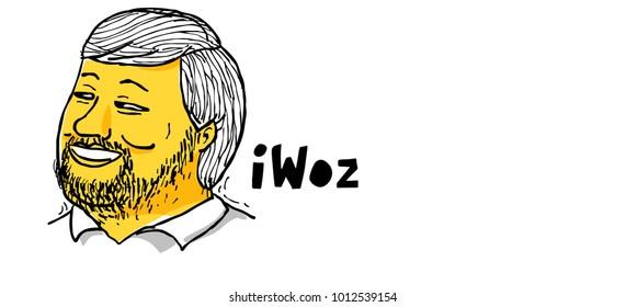 Steve Wozniak co-founder of Apple computer. January 29 2018