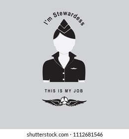 I'm stewardess - This is my job - fly