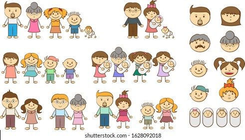 Cousins clipart big small family, Cousins big small family Transparent FREE  for download on WebStockReview 2020