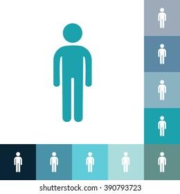 stick figure of human silhouette