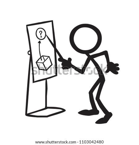 stick figure lateral thinking pointing stock vector royalty free Person Thinking stick figure lateral thinking pointing