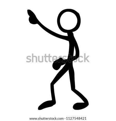 stick figure pointing stock vector royalty free 1127548421
