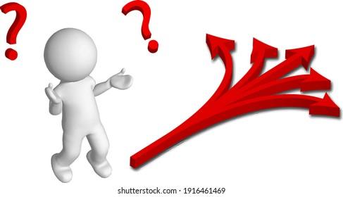 stick figure question where arrow