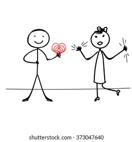 Stick Figure Vector t ,valentine's day couple