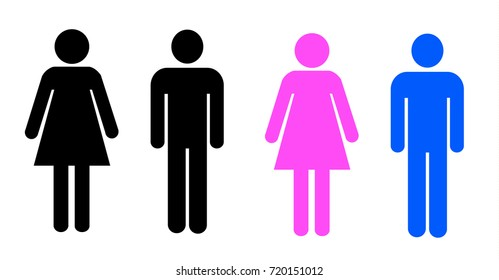 Stick figures of abstract man and women in different variations.