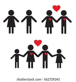 Stick figures. Love. Family.