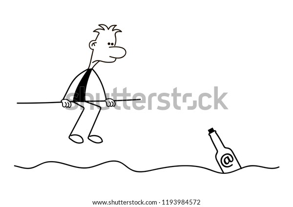 Waiting For Mail >> Stick Man Waiting Mail Stick Man Stock Vector Royalty Free 1193984572
