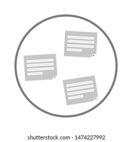 stick notes icon. flat illustration of stick notes vector icon. stick notes sign symbol