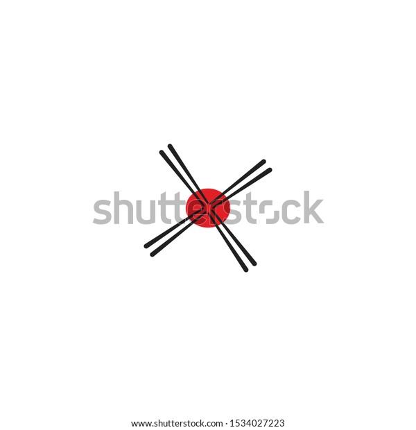 Stick Ramen Japan Logo Vector Simple Stock Vector Royalty Free 1534027223