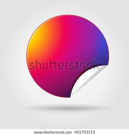 Sticker App Icon Instagram Color Sticker Stock Vektorgrafik