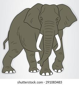Sticker with a cartoon elephant