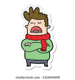 sticker of a cartoon obnoxious man