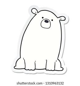 sticker of a cartoon polar bear