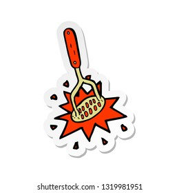 sticker of a cartoon potato masher