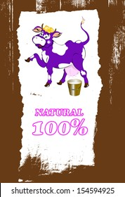 Sticker dairy products.Vector abstract background