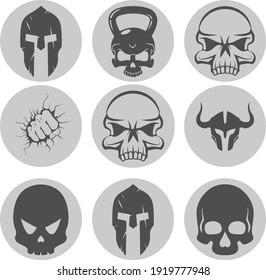 sticker decal icon skull fun