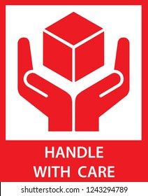Sticker: fragile - handle with care