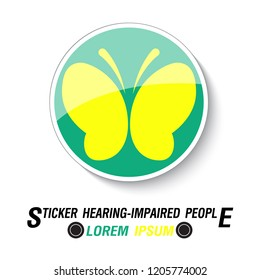 Sticker for Hearing Impaired drivers, vector illustration