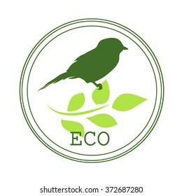 Sticker or logo for organic products, when you create or that are not growing chemicals and other harmful substances have been applied