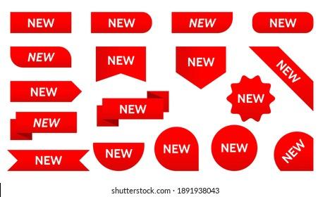 sticker tag new ribbon icon badge label. Vector isolated symbol illustration