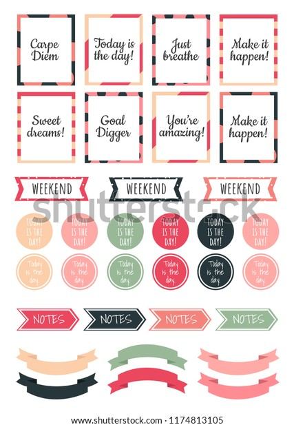 image about Stickers Printable titled Stickers Electronic Planner Vector Preset Printable Inventory Vector