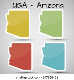 stickers in form of Arizona state, USA