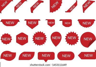 Stickers for New Arrival shop product tags, new labels or sale posters and banners vector sticker icons templates - Vector