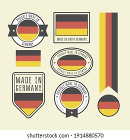 Stickers, tags and labels with Germany flag - badges