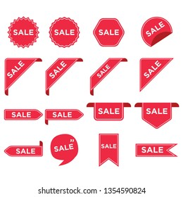 Stickers for tags, labels sale posters and banners vector sticker icons templates