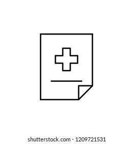 sticky icon. Element of medicine for mobile concept and web apps icon. Thin line icon for website design and development, app development. Premium icon
