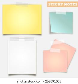 Sticky note vector design set