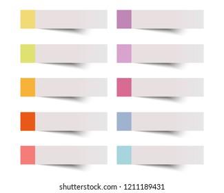 Sticky note vector illustration.
