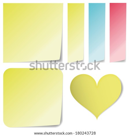 sticky notes different shapes isolated on stock vector royalty free