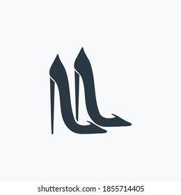 Stiletto icon isolated on clean background. Stiletto icon concept drawing icon in modern style. Vector illustration for your web mobile logo app UI design.