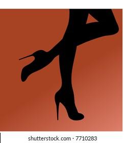 stilettos and leg silhouette