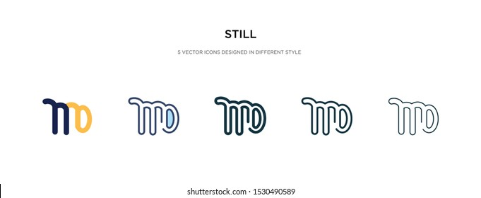 still icon in different style vector illustration. two colored and black still vector icons designed in filled, outline, line and stroke style can be used for web, mobile, ui
